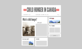 CHILD HUNGER IN CANADA