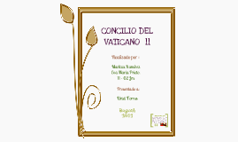 Copy of CONCILIO VATICANO II