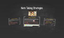 Note Taking Strategies