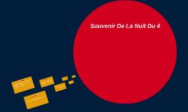 Souvenir De La Nuit Du 4