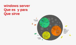 Copy of windows server Que es  y para Que sirve
