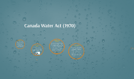 Canada Water Act (1985)