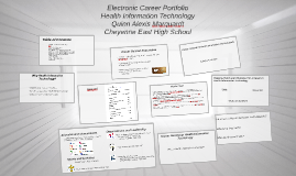 FBLA-Electronic Career Portfolio-Health Information Technology