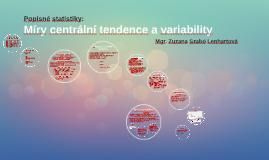 Míry centrální tendence a variability