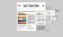 Jose's Thesis News