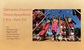 Textos Apapókuvá y Ava - Katu Eté