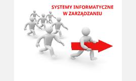 Systemy informatyczne w zarządzaniu