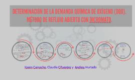 Copy of DETERMINACIÓN DE LA DEMANDA QUÍMICA DE OXÍGENO (DQO). MÉTODO