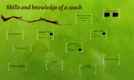 Skills and knowledge of a coach