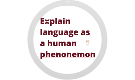 Explain language as a human phenomenon