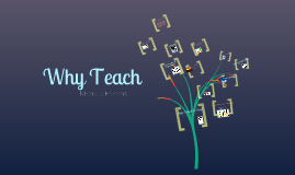 Copy of Why I want to teach. Why I will make a good teacher.