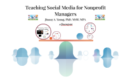 Teaching Social Media for Nonprofit Managers