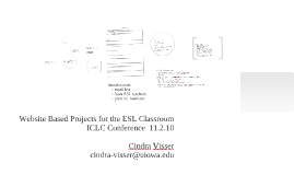 Website Based Projects for the ESL Classroom