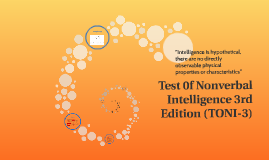 Test 0f Nonverbal Intelligence 3rd Edition