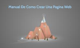 Manual para Crear Tu Pagina Web