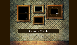 Copy of Camera Check