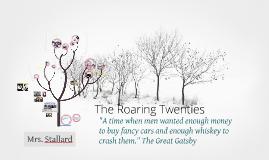 The Roaring 20's, school presentation