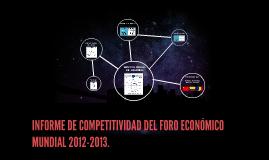 Informe de Competitividad Foro Económico