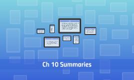 10 Summaries