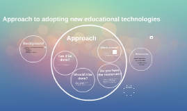Narrated: Approach to adopting new educational technologies