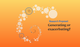 Generating or exacerbating? A Research Proposal