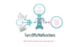 Turn off/malfunctions