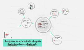 Descripción del proceso de producción del ungüento Mentholatum