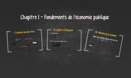 Chapitre 1 - Fondements de l'économie publique