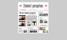 Learning from students' perceptions