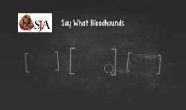 Say What Bloodhounds