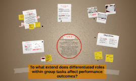 To what extend does differentiated roles within group tasks