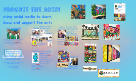 using social media to share, show and support the arts!