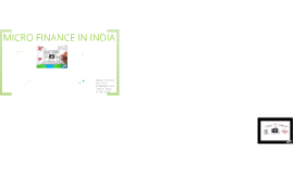 Copy of Micro Finance in India