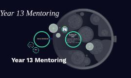 Year 13 Mentoring