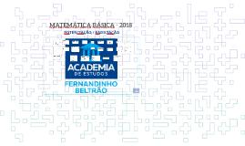 POTENCIAÇÃO/RADICIAÇÃO MATEMÁTICA BÁSICA AULA 01 - 2018