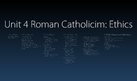 Unit 4 Roman Catholicism Ethics