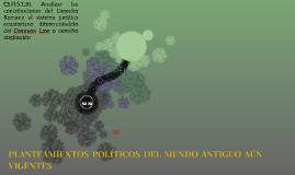 PLANTEAMIENTOS POLÍTICOS DEL MUNDO ANTIGUO AÚN VIGENTES