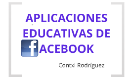 Aplicaciones educativas de Facebook