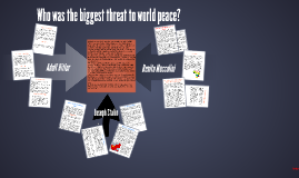 Copy of Copy of Biggest threat, Hitler, Mussolini or Stalin?