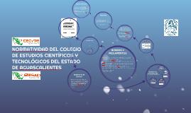 NORMATIVIDAD DEL COLEGIO DE ESTUDIOS Y TECNÓLOGICOS DEL ESTA