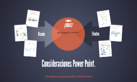 Consideraciones Power Point.