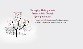 Developing Undergraduate Research Skills Through Library Instruction