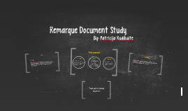 Remarque Document Study