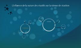 L'influence de la nature des réactifs sur la vitesse de réac