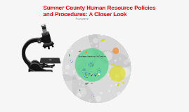 Sumner County Human Resource Policies and Procedures: A Clos