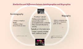 Compare/Contrast Autobiographies and Biographies, Ray Charles