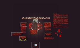 Copy of KOMENTARYONG PANRADYO AT DOKUMENTARYONG PANTELEBISYON