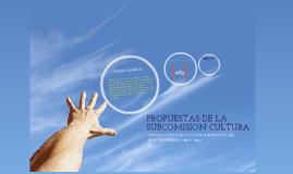 Plan sub-comision cultura