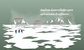 Analista desarrollador para aplicaciones de software