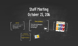 PES Professional Learning 10/25